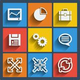 Set of 9 web and mobile icons. Vector. Stock Photography