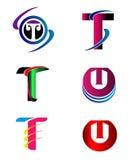 Set abecadło symbole I elementy list T, taki logo ilustracja wektor
