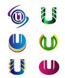 Set abecadło symbole I elementy list U, taki logo royalty ilustracja