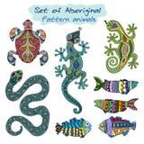 Set of aboriginal animals. Stock Photo