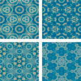Set of abstrack blue cloud and snow seamless colorful background Royalty Free Stock Images