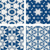 Set of abstrack blue cloud and snow seamless colorful background Stock Image