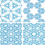 Set of abstrack line blue seamless colorful background Royalty Free Stock Photos