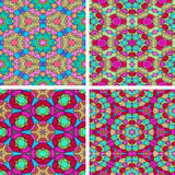 Set of abstrack seamless colorful water color painting backgroun Royalty Free Stock Image