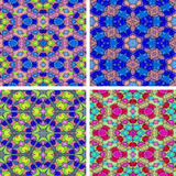 Set of abstrack seamless colorful water color painting backgroun Stock Image