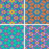 Set of abstrack seamless colorful water color painting backgroun Stock Photo