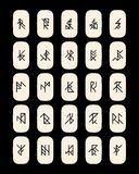 Set of abstract ancient runes Stock Images