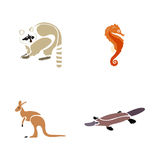 Set of abstract animals Stock Image