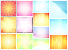 Set of Abstract Backdrops. Set of Abstract Vector Texture Backgrounds Stock Photography
