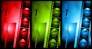 Set of abstract background in film Royalty Free Stock Photos