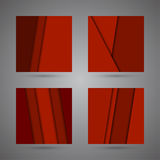Set abstract background of red  strips of paper ov Stock Photo