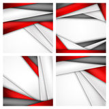 Set Abstract background of red, white and black. Origami paper. Vector illustration. EPS 10 Stock Photos