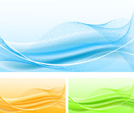 Set of abstract backgrounds stock images