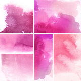 Set of abstract backgrounds. Set of watercolor abstract hand painted backgrounds Stock Image