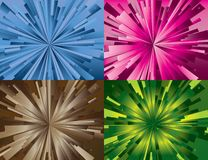 Set of abstract backgrounds. Illustration for web Stock Images