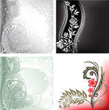 Set of abstract backgrounds. Collection of beautiful abstract background with floral elements Royalty Free Stock Photography