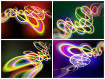 Set of abstract backgrounds. Royalty Free Stock Photo