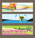 Set of abstract  backgrounds Royalty Free Stock Image