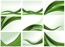 Set of abstract backgrounds. Set of green abstract backgrounds Royalty Free Stock Photos
