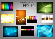 Set abstract  backgrounds Royalty Free Stock Photos