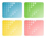 Set of abstract backgrounds Royalty Free Stock Photography