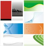 Set of abstract backgrounds - background Royalty Free Stock Photography