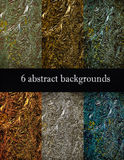 Set of 6 abstract backgrounds Stock Photography