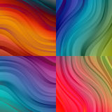 Set of abstract backgrounds. Set of abstract beautiful bright colorful backgrounds with waves. Vector banner textured design Stock Image