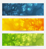 Set of abstract backgrounds with bokeh effect. Illustration set of abstract backgrounds with bokeh effect - vector royalty free illustration