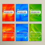 Set abstract backgrounds bright colors red blue Stock Images