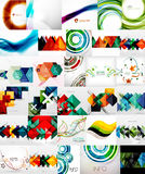 Set of Abstract Backgrounds. Business or Technology Templates, Online Geometric Triangular, Wave, Floral Abstract Modern Backgrounds Royalty Free Stock Image