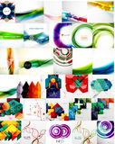 Set of Abstract Backgrounds Stock Photography