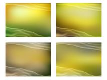 Set of abstract backgrounds for business. Vector illustration Royalty Free Stock Images