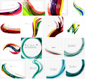 Set of abstract backgrounds. Circles, swirls and Stock Photo