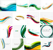 Set of abstract backgrounds. Circles, swirls and Royalty Free Stock Images