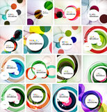 Set of abstract backgrounds. Circles, swirls and Stock Images