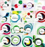 Set of abstract backgrounds. Circles, swirls and Stock Image