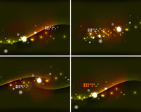 Set of abstract backgrounds with copyspace Stock Image