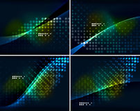 Set of abstract backgrounds with copyspace Royalty Free Stock Photo