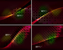 Set of abstract backgrounds with copyspace Stock Photos