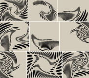 Set - abstract backgrounds with curved figures Stock Images