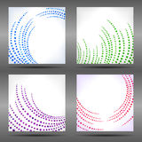 Set of abstract backgrounds. Stock Photo