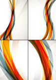 Set of abstract backgrounds. Elegant colorful Royalty Free Stock Photos