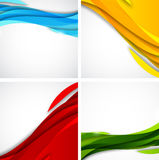 Set of abstract backgrounds Stock Image