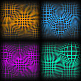 Set abstract backgrounds with half tone effect, vector illustration. Stock Image
