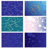 Set Of Abstract Backgrounds Of Intersecting Lines And Circles Royalty Free Stock Photo