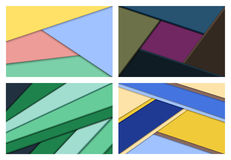 Set of abstract backgrounds. Set of material design abstract backgrounds in flat colors. Vector illustration Stock Images