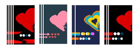 Set of 4 Abstract Backgrounds vector illustration