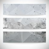 Set of abstract backgrounds, molecule structure, Stock Photo