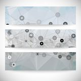 Set of abstract backgrounds, molecule structure, Royalty Free Stock Images